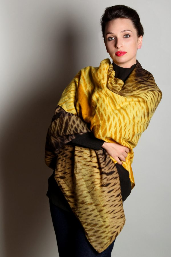 Harvest Gold Winter Weight Cashmere Shawl