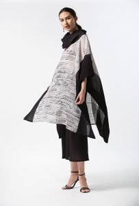 Caftan, String Graphic, with Bias Skirt