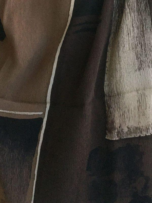 Landscape Batik Silk Scarf, detail